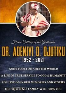 Dr. Adeniyi O  Ojutiku