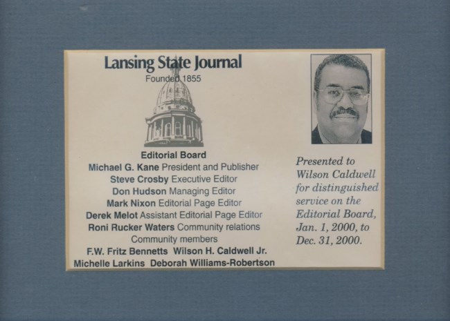 Wilson Henry Caldwell Jr  Obituary - Lansing, MI