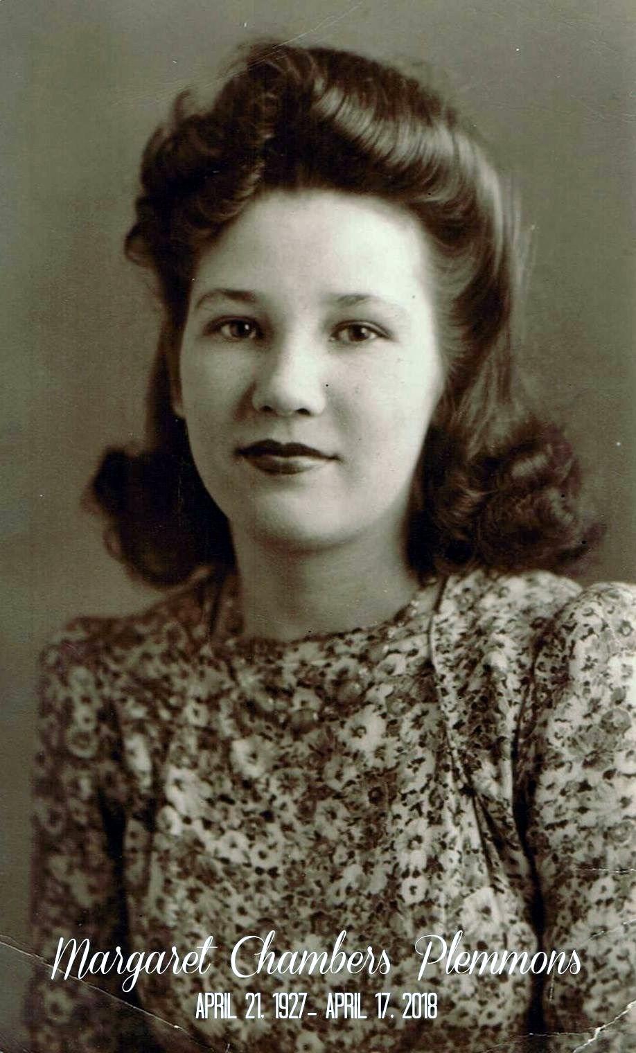 Margaret Chambers  Plemmons