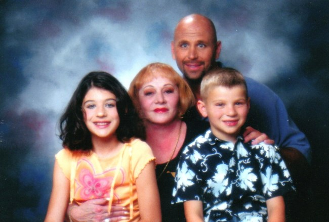 Sylvia Browne with her son, chris and grandchildren